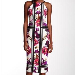 NWOT Vince Camuto Floral Halter Midi Dress